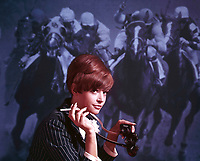 Parliament cigarette print ad, Benton & Bowles,  front projection horse racing, 1966. Photo by John G. ZImmerman.