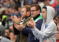 Swansea away supporters during the Premier League match between West Ham United v Swansea City at the London Stadium, London, England, UK. Saturday 30 September 2017