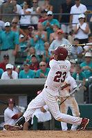 University of South Carolina Gamecocks shortstop Bobby Haney #23 at bat during the 2nd and deciding game of the NCAA Super Regional vs. the University of Coastal Carolina Chanticleers on June 13, 2010 at BB&T Coastal Field in Myrtle Beach, SC.  The Gamecocks defeated Coastal Carolina 10-9 to advance to the 2010 NCAA College World Series in Omaha, Nebraska. Photo By Robert Gurganus/Four Seam Images