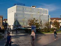 Hotel Centar in Novi Sad = Neusatz, Vojvodina, Serbien, Europa<br /> Hotel Centar in Novi Sad, Vojvodina, Serbia, Europe