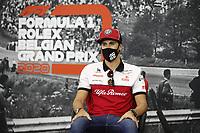 27th August 2020, Spa Francorhamps, Belgium, F1  Grand Prix of Belgium Motorsports: FIA Formula One World Championship 2020, Grand Prix of Belgium, 99 Antonio Giovinazzi ITA, Alfa Romeo Racing ORLEN
