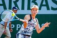 Paris, France, 31 May, 2018, Tennis, French Open, Roland Garros, Womans doubles: Elise Mertens (BEL) <br /> Photo: Henk Koster/tennisimages.com