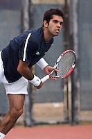 SAN ANTONIO, TX - FEBRUARY 15, 2009: The University of Nebraska Cornhuskers vs. The University of Texas at San Antonio Roadrunners Men's Tennis at the UTSA Tennis Center. (Photo by Jeff Huehn)8