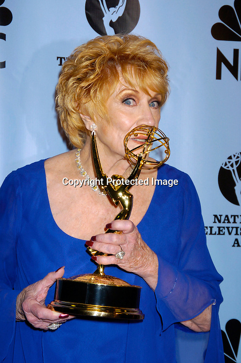 Jeanne Cooper ..at the Daytime Emmy Awards on May 21, 2004 in the Press Room at Radio City Music Hall...Photo by Robin Platzer, Twin Images