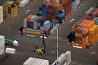 aerial photograph containers Port of Oakland, California