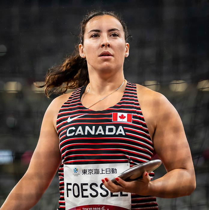 Renee Foessel, Tokyo 2020 - Para Athletics // Para-athlétisme.<br /> Renee Foessel competes in the women's standing discus throw F38 final // Renee Foessel participe à la finale féminine F38 du lancer du disque debout. 04/09/2021.
