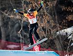 Michelle Salt, PyeongChang 2018 - Para Snowboard // Parasnowboard.<br /> Highlights of Team Canada during a snowboard cross training session // Faits saillants d'Équipe Canada lors d'une session d'entraînement de snowboard cross. 10/03/2018.