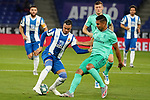 28th June 2020; RCDE Stadium, Barcelona, Catalonia, Spain; La Liga Football, Real Club Deportiu Espanyol de Barcelona versus Real Madrid; Picture show R.D.T. and Casemiro