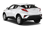 Car pictures of rear three quarter view of 2020 Toyota C-HR LE 5 Door SUV Angular Rear