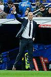 Real Madrid´s new coach Zinedine Zidane during 2015/16 La Liga match between Real Madrid and Deportivo de la Coruna at Santiago Bernabeu stadium in Madrid, Spain. January 09, 2015. (ALTERPHOTOS/Victor Blanco)