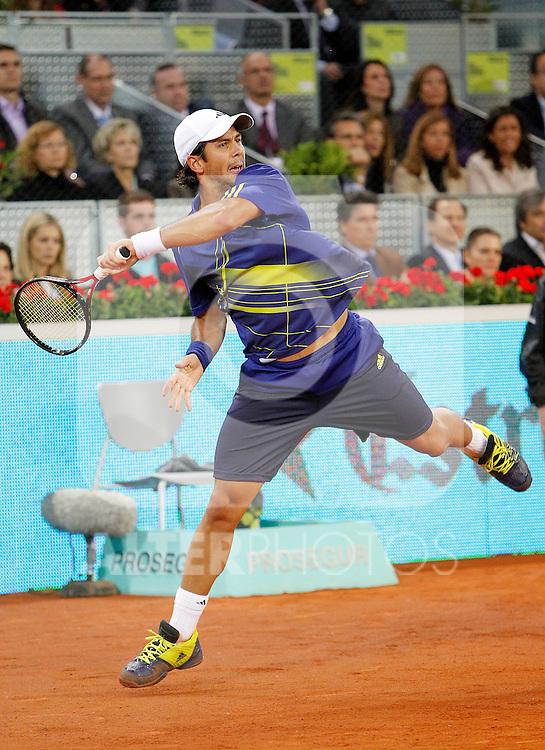 Fernando Verdasco during Tennis Madrid Open match, May 5,2010..(ALFAQUI/Alex Cid-Fuentes)