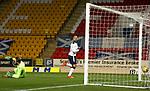 23.12.2020 St Johnstone v Rangers: <br /> Kemar Roofe beats St Johnstone keeper Zander Clark to score for Rangers