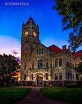 Historic Xenia courthouse at dusk. Xenia Ohio - Greene County