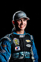 Feb 8, 2017; Pomona, CA, USA; NHRA pro stock driver Tanner Gray poses for a portrait during media day at Auto Club Raceway at Pomona. Mandatory Credit: Mark J. Rebilas-USA TODAY Sports
