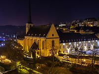 Abtei Neumünster in Grund, Luxemburg-City, Luxemburg, Europa, UNESCO-Weltkulturerbe<br /> Abbey Neumünster in Grund, Luxembourg City, Europe, UNESCO Heritage