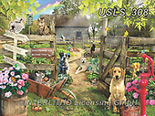 Lori, REALISTIC ANIMALS, REALISTISCHE TIERE, ANIMALES REALISTICOS, zeich, paintings+++++Summer Garden_6_12in_72,USLS308,#a#, EVERYDAY ,puzzle,puzzles