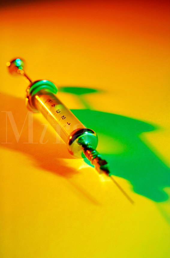 Close up of a syringe