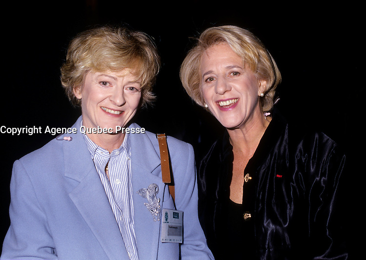 Montreal (Qc) Canada  file Photo - 1996- Denise Bombardier (R) and her sister (L)