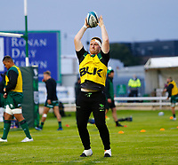 1st October 2021;  The Sportsground, Galway, Ireland; United Rugby Championships, Connacht versus Bulls; Shane Delahunt (Connacht) practices his line out throw during the warm up