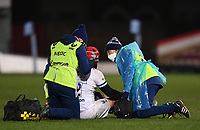 12th February 2021; Kingsholm Stadium, Gloucester, Gloucestershire, England; English Premiership Rugby, Gloucester versus Bristol Bears; Siale Piutau of Bristol Bears receives injury treatment after the match