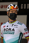 Peter Sagan (SVK) Bora-Hansgrohe at sign on before the start of Stage 1 of the 100th edition of the Volta Ciclista a Catalunya 2021, running 178.4km from Calella to Calella, Spain. 22nd March 2021.   <br /> Picture: Bora-Hansgrohe/Luis Angel Gomez/BettiniPhoto | Cyclefile<br /> <br /> All photos usage must carry mandatory copyright credit (© Cyclefile | Bora-Hansgrohe/Luis Angel Gomez/BettiniPhoto)