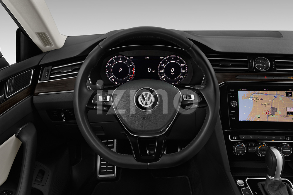 Car pictures of steering wheel view of a 2019 Volkswagen Arteon SEL 5 Door Hatchback