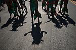 USA-NewYork-Revellers during Mermaid parade in New York