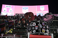 Carson, CA - Sunday January 28, 2018: Drums prior to an international friendly between the men's national teams of the United States (USA) and Bosnia and Herzegovina (BIH) at the StubHub Center.