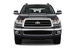 Car photography straight front view of a 2016 Toyota Sequoia 5.7-Auto-SR5 5 Door SUV Front View