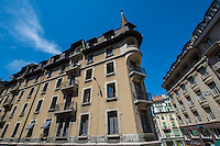 Switzerland, Geneva, buildings in old town.