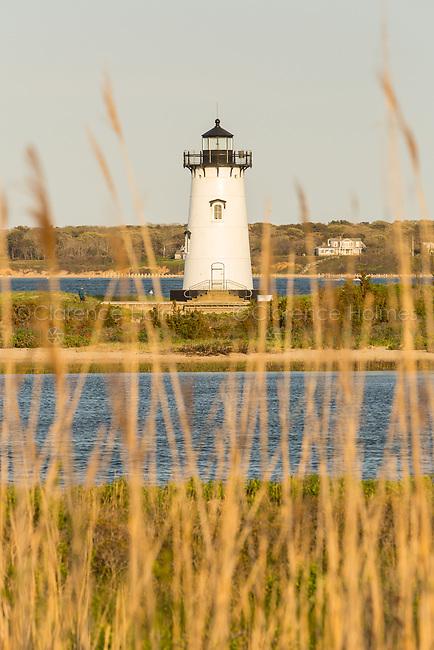 Edgartown Harbor Light protects mariners at the entrance to Edgartown Harbor and Katama Bay in Edgartown, Massachusetts on Martha's Vineyard.