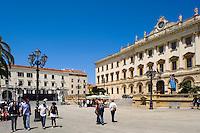 Palazzo del Governo auf Piazza d' Italia in Sassari,  Provinz Sassari, Nord - Sardinien, Italien