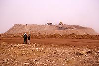 Arlit, Niger.   Uranium mine, tailing pile.