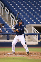 Zach Taylor (20) of the AZL Brewers bats during a game against the AZL Athletics at Maryvale Baseball Park on June 30, 2015 in Phoenix, Arizona. Brewers defeated Athletics, 4-2. (Larry Goren/Four Seam Images)