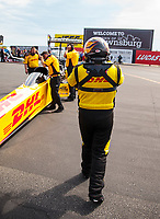 Sep 6, 2020; Clermont, Indiana, United States; NHRA top fuel driver Shawn Langdon during the US Nationals at Lucas Oil Raceway. Mandatory Credit: Mark J. Rebilas-USA TODAY Sports