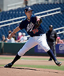 Reno Aces Charles Brewer pitches against the Tacoma Rainiers during their game played on Sunday afternoon, May 26, 2013 in Reno, Nevada.