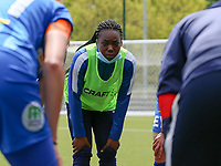 Lakeesha Eijken (7) of AA Gent  pictured at the huddle before a female soccer game between Oud Heverlee Leuven and AA Gent Ladies on the 9 th matchday of play off 1 in the 2020 - 2021 season of Belgian Womens Super League , saturday 22 nd of May 2021  in Heverlee , Belgium . PHOTO SPORTPIX.BE | SPP | SEVIL OKTEM