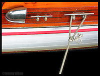 Boat deck detail, old Chris Craft