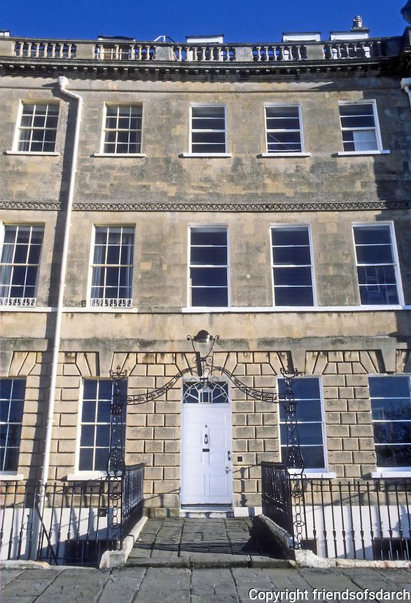 Bath: Lansdowne Crescent, elevation. John Palmer, 1789-98.