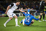 St Johnstone v Inverness Caledonian Thistle...20.12.14   SPFL<br /> Ross Draper grabs Brian Graham after he went down for the penalty<br /> Picture by Graeme Hart.<br /> Copyright Perthshire Picture Agency<br /> Tel: 01738 623350  Mobile: 07990 594431