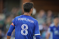 SAN JOSE, CA - JUNE 26: Chris Wondolowski #8 of the San Jose Earthquakes during a game between Los Angeles Galaxy and San Jose Earthquakes at PayPal Park on June 26, 2021 in San Jose, California.