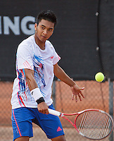 08-08-13, Netherlands, Rotterdam,  TV Victoria, Tennis, NJK 2013, National Junior Tennis Championships 2013, Russel Josh Evangelista<br /> <br /> <br /> Photo: Henk Koster