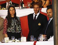 la Princesse Caroline de Hanovre, son fils Andréa Casiraghi, son épouse Tatiana durant le Longines proAm Cup Monaco dans le cadre du Jumping International de Monte Carlo 2016 le 24 juin 2016.