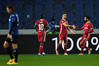 3rd November 2020; Bergamo, Lombardy, Italy. UEFA Champions League football, group stages, Atalanta versus Liverpool FC;  Goal celebrations from scorer Diogo Jota (liv)
