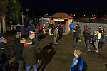 Runcorn Town 1 Runcorn Linnets 0, 26/12/2013. The Pavilions, North West Counties League Premier Division. Supporters making their way from the ground after the Boxing Day derby match between Runcorn Town and visitors Runcorn Linnets at the Pavilions, Runcorn, in a top-of the table North West Counties League premier division match. Runcorn Linnets won 1-0 and overtook their neighbours at the top of the league in a game watched by 803 spectators. Runcorn Linnets were a successor club to Runcorn FC, one of England foremost non-League clubs of the 1970s and 1980s. Photo by Colin McPherson.