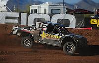 Apr 16, 2011; Surprise, AZ USA; LOORRS driver Rob MacCachren (1) during round 3 at Speedworld Off Road Park. Mandatory Credit: Mark J. Rebilas-