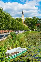 Klosterkirche St. Mariä Himmelfahrt, Klosterteich, Kloster Neuzelle, Niederlausitz, Brandenburg, Deutschland