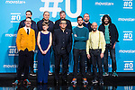 (back line) Pepe Colubi, Raul Cimas, Ricardo Castella, Jose Juan Vaquero, (front Line) Joaquin Reyes, Sara Alonso, Andreu Buenafuente, David Broncano and Javier Cansado on the first anniversary of broadcast of #0 television network of the Movistar + group in Madrid, Spain. January 30th 2017. (ALTERPHOTOS/Rodrigo Jimenez)