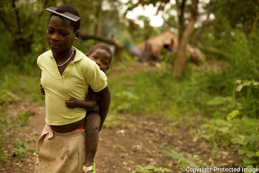 Portrait. Congolese refugee in Nzara South Sudan.