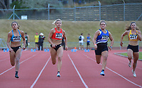 Women's elite 100m. 2021 Capital Classic athletics at Newtown Park in Wellington, New Zealand on Saturday, 20 February 2021. Photo: Dave Lintott / lintottphoto.co.nz